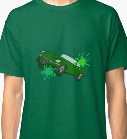 Classic Car Green Splatter Classic T-Shirt