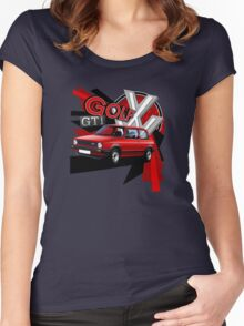 Mk1 Golf GTI T-shirt 'Explosion' Women's Fitted Scoop T-Shirt
