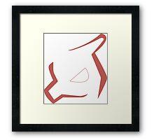 Minimalistic Charmeleon Framed Print