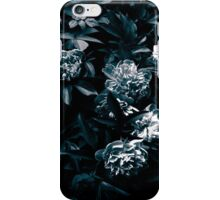 Gloomy peony in black and white. iPhone Case/Skin