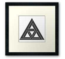 Mind Bending Isometric Triangle Framed Print