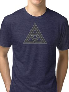 Mind Bending Isometric Triangle Tri-blend T-Shirt