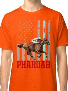 USA flag american pharoah racehorse Classic T-Shirt