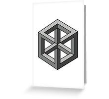 Mind Bending Isometric Cube Greeting Card