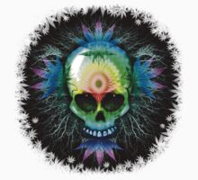 Marijuana Psychedelic Skull Kids Tee