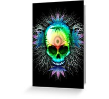 Marijuana Psychedelic Skull Greeting Card