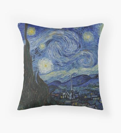 notte stellata van gogh Throw Pillow