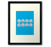 Emoji Building - Discoballs Framed Print