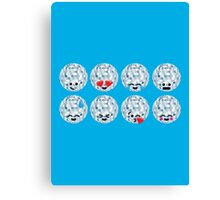 Emoji Building - Discoballs Canvas Print