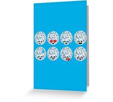 Emoji Building - Discoballs Greeting Card