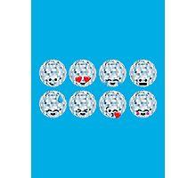 Emoji Building - Discoballs Photographic Print