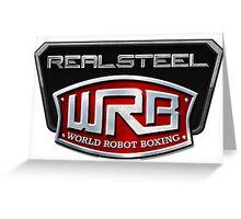 WRB Real Steel Greeting Card