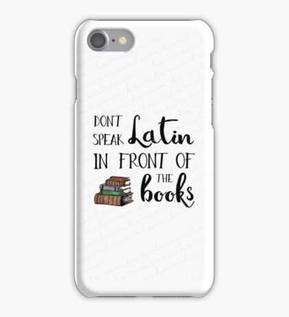 Don't Speak Latin - Buffy Quote iPhone Case/Skin