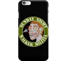 Zombie Patch Funny Sunday Night Walker Militia iPhone Case/Skin