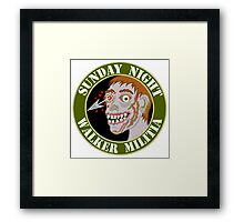 Zombie Patch Funny Sunday Night Walker Militia Framed Print