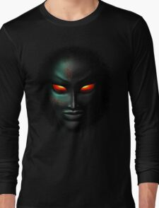 Zombie Ghost Halloween Face Long Sleeve T-Shirt