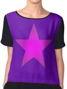 Purple Star Chiffon Top
