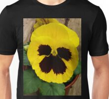 YELLOW TWO TONE PANSY Unisex T-Shirt