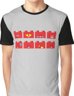 Emoji Building - Lego Graphic T-Shirt