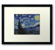 notte stellata van gogh Framed Print