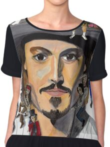 Johnny Depp no back Chiffon Top