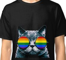 Gay Cat with Sunglasses Classic T-Shirt