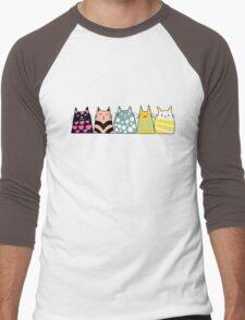 Cats Anime 6 Men's Baseball ¾ T-Shirt