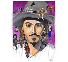 Johnny Depp W/ back Poster
