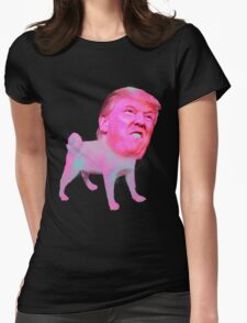 Puppy Trump Womens Fitted T-Shirt