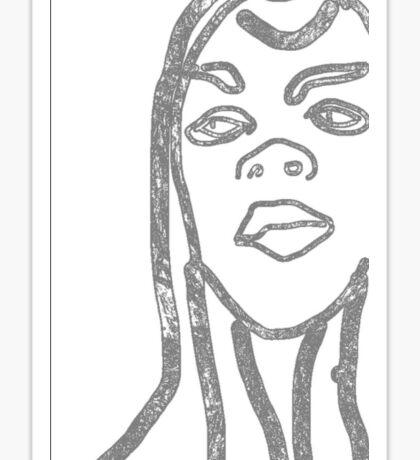 Line Girl Sticker