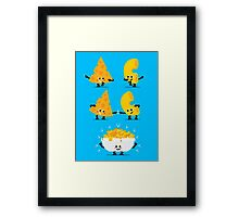 Character Fusion - Mac N Cheese Framed Print