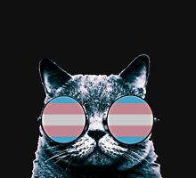 Transgender Cat with Sunglasses Classic T-Shirt