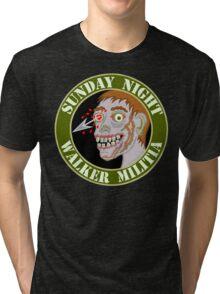 Zombie Patch Funny Sunday Night Walker Militia Tri-blend T-Shirt