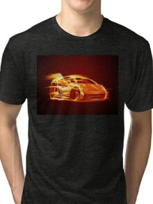 Cartoon Sportcar Tri-blend T-Shirt
