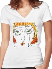 Lola Women's Fitted V-Neck T-Shirt