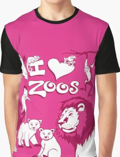 I Love Zoos (pink 2015) Graphic T-Shirt