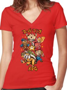Super Mario RPG Women's Fitted V-Neck T-Shirt