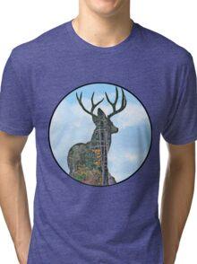 Deer and pine merge Tri-blend T-Shirt