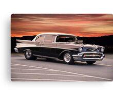 1957 Chevrolet Bel Air Hardtop Canvas Print