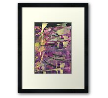 Flowing Abstract in Purple and Gold by Laura L. Leatherwood Framed Print