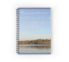 Bruce Lee Inspirational Quote Spiral Notebook