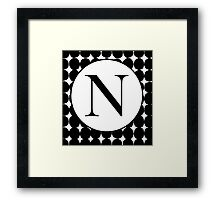N Bubble Framed Print