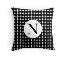 N Bubble Throw Pillow