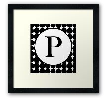 P Bubble Framed Print