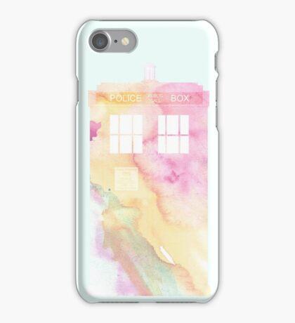 Watercolour Tardis iPhone Case/Skin