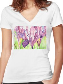 Water Iris Women's Fitted V-Neck T-Shirt