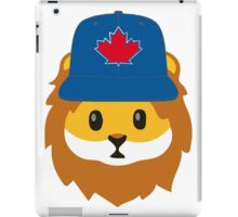Full Print - Blue Jays No Fear Lion Emoji iPad Case/Skin