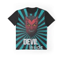 Devil Inside Dark Side Evil Mask Graphic Design T-shirt Graphic T-Shirt