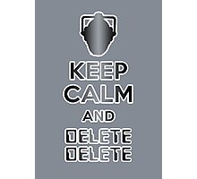 Cyberman Delete Delete Photographic Print