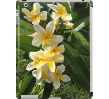 YELLOW PLUMERIA FRANGI PANGI HAWAIIAN FLOWERS iPad Case/Skin